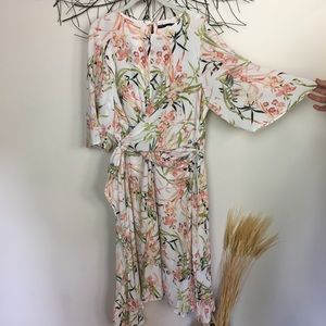 Floral marks and Spencer's midi dress. Size 16